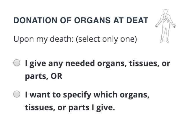Step 6, donation of Organs.